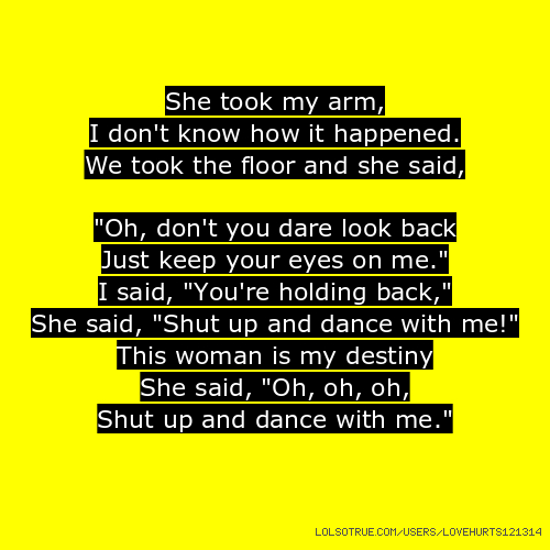 FLASH DANCE - SHE'S A MANIAC LYRICS