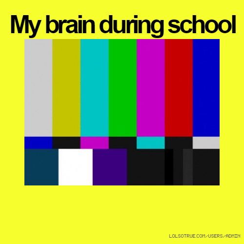 My brain during school