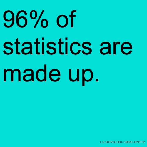 96% of statistics are made up.