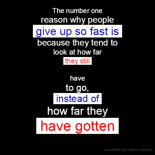 Why Most People Give Up and Fail