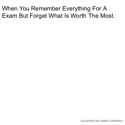how to remember for an exam