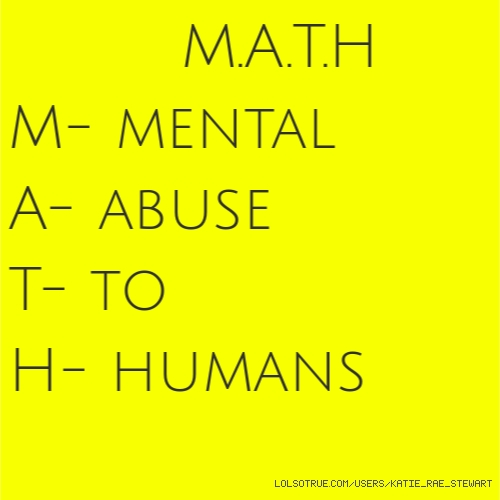 M.A.T.H 