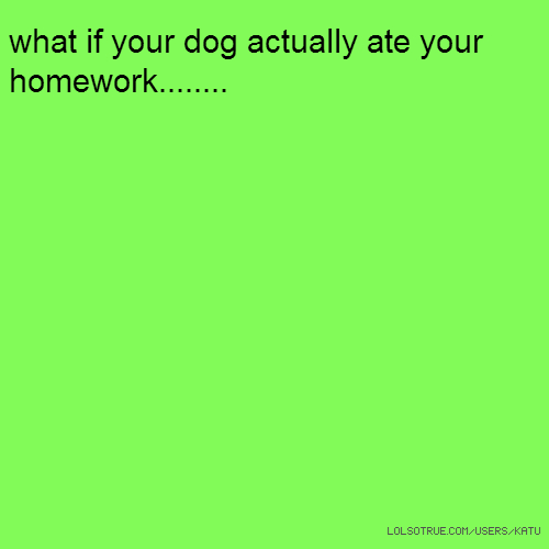 what if your dog actually ate your homework........