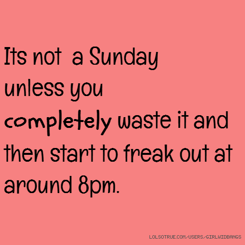 Funny sunday quotes for facebook