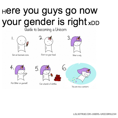Here you guys go now your gender is right xDD