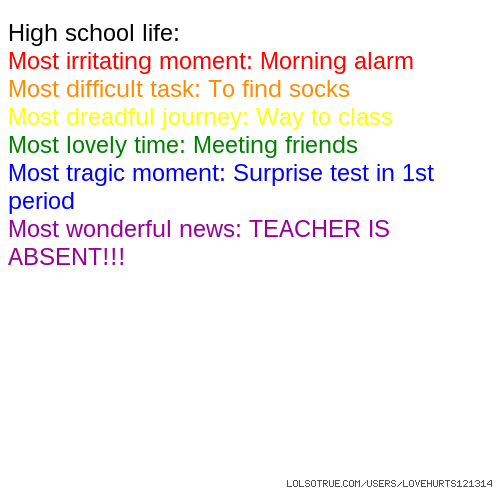 High School Life Quotes Funny High School Life Quotes Facebook New Quotes About High School