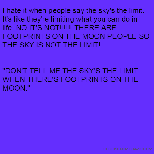 the sky is the limit essay