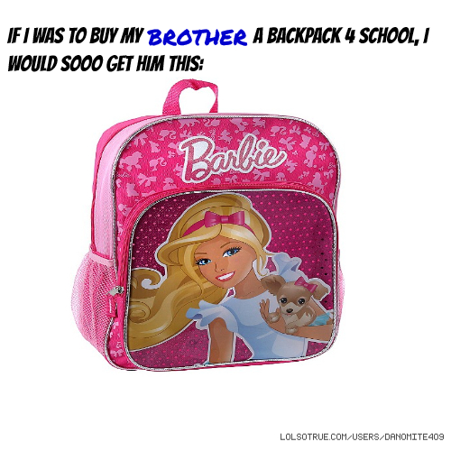 If I was to buy my BROTHER a backpack 4 school, I would sooo get him this: