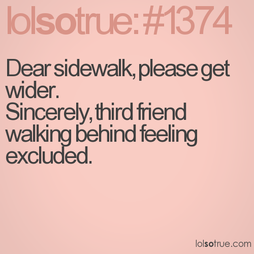 Dear sidewalk, please get wider.