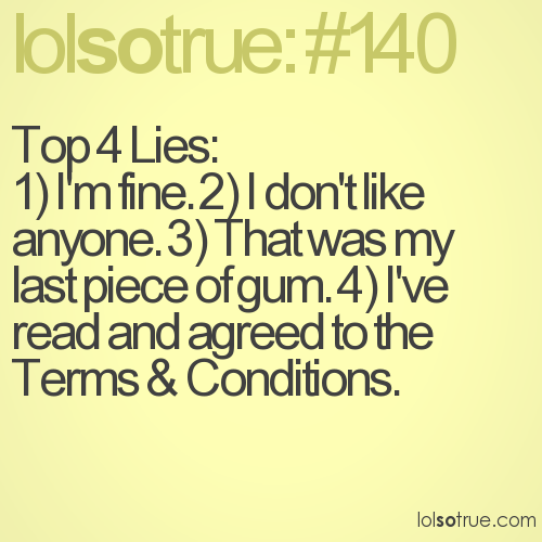 Top 4 Lies: 