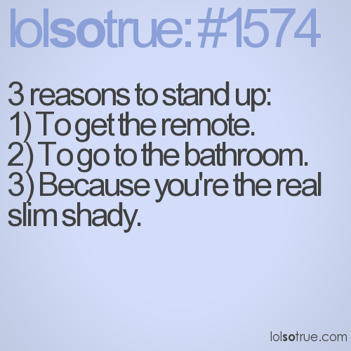 3 reasons to stand up: 