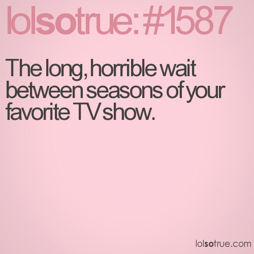 The long, horrible wait between seasons of your favorite TV show.