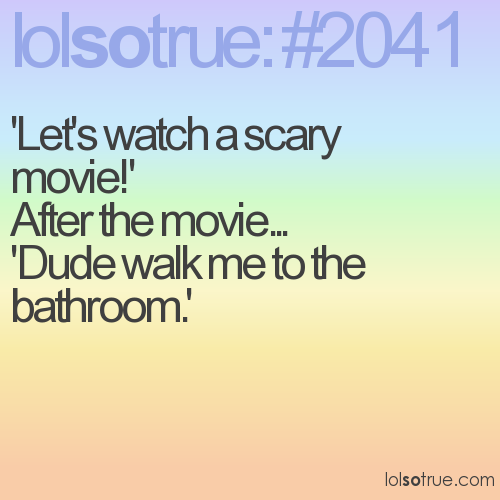 'Let's watch a scary movie!'