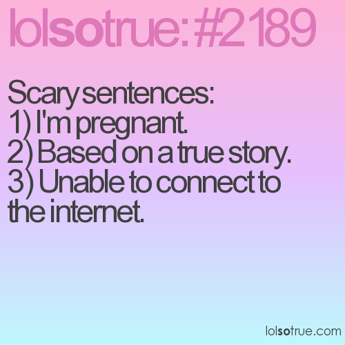 Scary sentences: