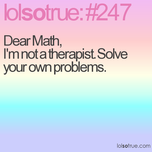 Dear Math, 