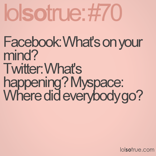 Facebook: What's on your mind? 